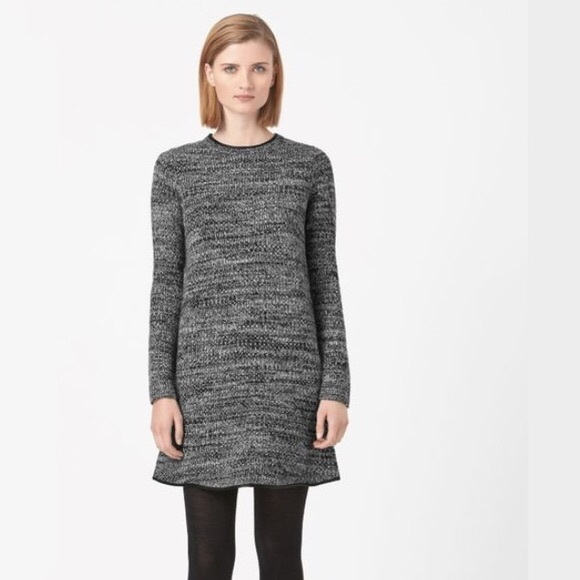 COS Dresses & Skirts - COS Leather Trim Knit Dress